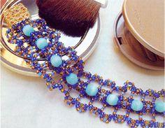 Free pattern for bracelet Aegean Sea