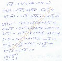 formuleonline probleme si exercitii rezolvate: Operatii cu radicali clasa a 7-a exercitiu rezolva... Mandala Design, Chemistry, Physics, Math Equations, School, Easy, Physique