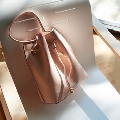 4ba1592e4d Beautiful blush pink bucket bag from The Daily Edited. Personalised leather  means you can get