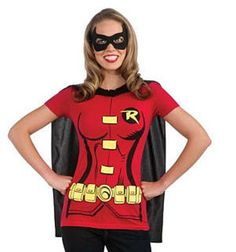 Hey, I found this really awesome Etsy listing at https://www.etsy.com/listing/247601967/womens-costume-robin-t-shirt-with-cape
