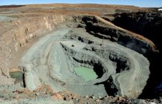 Picture of the Letseng mine in the South African Kingdom of Lesotho owned by Gem Diamonds and the government of Lesotho. The mine is famous for its large diamonds.