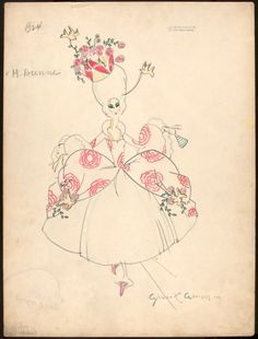 Gilbert Adrian costume designs for the Greenwich Village follies.