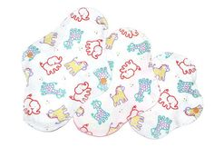 White cotton Reusable Cloth pads  - set of 3 reusable cloth pads, 1 night, 1 day (normal) and 1 pantyliner