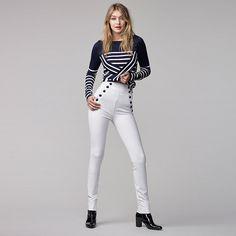 Tommy Hilfiger Sailor Trousers Gigi Hadid - snow white - Tommy Hilfiger Trousers - main image