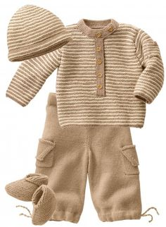Mag 160 - #29 - Sweater, trousers, hat and bootees -- Cute details, and so sweet for a little guy!