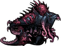Shuffling Horror, Perhaps a distant cousin of the Shambler, albeit corrupted even further by the Eldritch god below, the Shuffling Horror is the first of four bosses that Darkest Dungeon has.