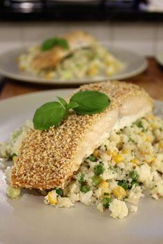 Bloemkoolcouscous met sesamzalm (gluten-en lactosevrij) – Mijn kookdagboek