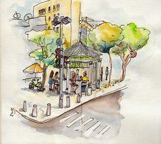 Birgit sketches: Tel Aviv