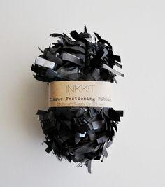 black tissue festooning ribbon 25 feet by inkkit on Etsy, $6.50