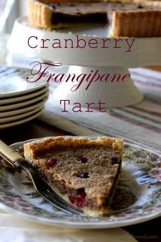... Frangipane Tart- Tart cranberries valences with sweet and salty pecans