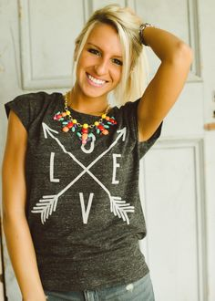 Piace Boutique - Love and Arrows Top, $32.99 (http://www.piaceboutique.com/love-and-arrows-top/)