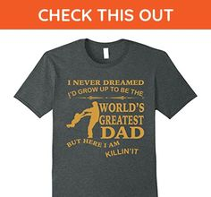 Mens Mens World's Greatest Dad Vintage T Shirt 2XL Dark Heather - Relatives and family shirts (*Amazon Partner-Link)