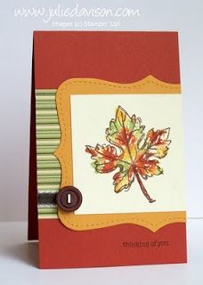 Julie's Stamping Spot -- Stampin' Up! Project Ideas Posted Daily: Gently Falling with Baby Wipe Technique