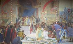 (Coronation of Serbian Tsar Stefan Dušan) by Paja Jovanović