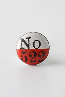 Lucky Number Knob, Red - anthropologie.eu