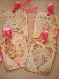 Valentines Tags / Ornaments / Decor with by creationsbyminda