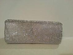 Silver sparkle purse rhinestone clutch for by LovingSparkles, $44.99
