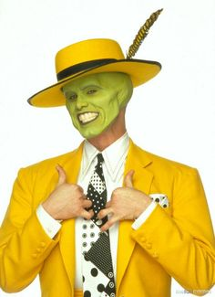 It can't be easy pulling off a green face with a yellow suit but he nails it! http://www.essilor.co.uk/Lenses/Photochromics/Pages/TransitionsSignatureVIIGraphiteGreen.aspx