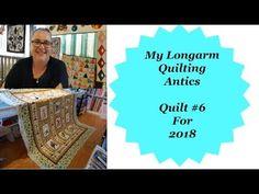 My longarm Quilting Antics Quilt #6 for 2018