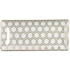 Gold Honeycomb Rectangle Tray