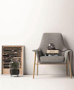 Fabric easy #chair DAFNE by Dall'Agnese | #design Imago Design, Massimo Rosa @dallagnesespa