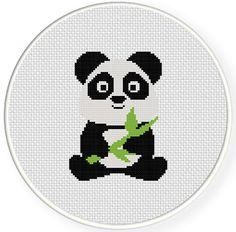 SALE Baby Panda PDF Cross Stitch Pattern by DailyCrossStitch