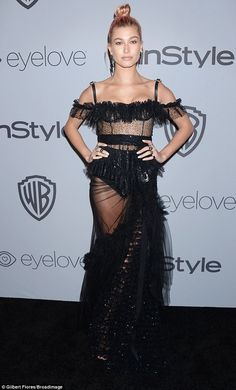 Flash look: Hailey Baldwin seems to be on the mend as she attended the Instyle and Warner ...