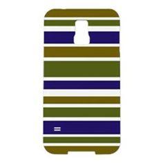 Samsung S5 case bold green blue striped pattern #cafepress #samsung #phone