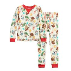 Cuddl Duds Toddler Boys Mickey Mouse Santa Thermal Underwear Base Layer Set