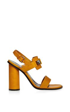 Ps1 Round Heel Leather Sandal by Proenza Schouler - Moda Operandi
