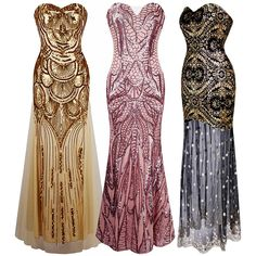 Sequins Women'S Long Mermaid Fishtail Prom Evening Gown Party Bridesmaid Dress
