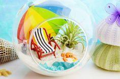 Beach Vacation Terrarium   Glass Globe by BeachCottageBoutique