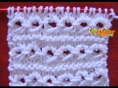 Como Tejer Punto Bucle o Rulo-How to Knit the Loop Stitch Knitting Stiches, Cable Knitting, Finger Knitting, Knitting Videos, Crochet Videos, Crochet Stitches, Crochet Designs, Knitting Designs, Knitting Patterns Free