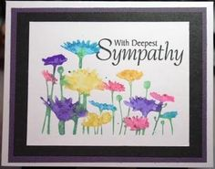 The Passionate Stamper: Twinkling Watercolors - Sympathy Card