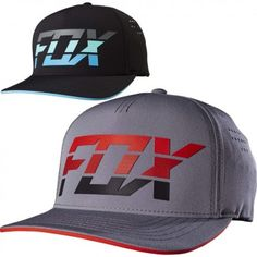 54d0cfe7c95 Fox Racing Seca Splice Mens Caps Motocross Off Road Flexfit Hats Fox Racing