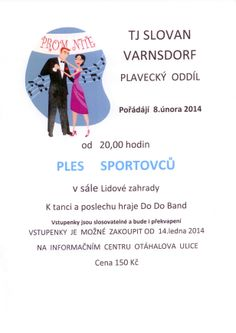 Ples sportovců TJ Slovan Varnsdorf