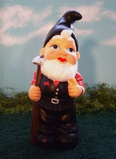 Leather Daddy Garden Gnome w/Hoe by BunnyORamma on Etsy, $50.00