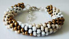 Beaded crochet bracelet. multicolored by EmilyArtHandmade on Etsy
