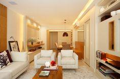 Apartamento Barão da Torre / Paula Neder @paulaneder #living #dining #lighting #small