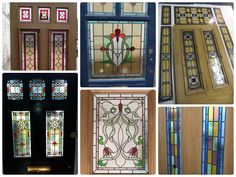 VICTORIAN EDWARDIAN STAINED GLASS PANELS HAND MADE LEADED LIGHT GLASS MADE | eBay