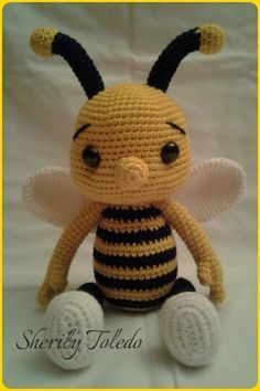 This is a DOWNLOADABLE PATTERN only. This is NOT for the actual amigurumi doll.  Meet Baby Bee BUMBLE. He is simply adorable and simple to make.  Finished size: 15 inches  Skill level: Easy (single crochet, increase, decrease)  If you have any problems following the pattern, please feel free to contact me.  *You may sell your finished item & post pictures as long as you give credit to Pattern Designer/Author: Sherily Toledo (Toledos Talents - Etsy.com/Shop/ToledosTalents…