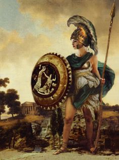 Athena (Minerva)-virgin goddess of wisdom and justice; known as a warrior goddess and patron of science and learning; often shown with an owl