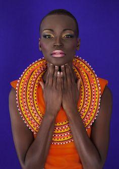 Maasai Neckpiece; dress Stylist's own