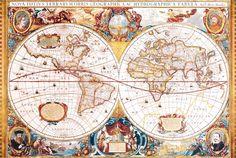 Mappa del mondo IV.  - Anonimo - STAMPA SU TELA € 20,82
