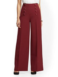 Tuxedo Palazzo Pant - Avenue - New York & Company Fashion Pants, Hijab Fashion, Fashion Dresses, Classy Outfits, Casual Outfits, Wide Pants, Loose Pants, Plazzo Pants, Square Pants