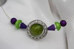 #Schmuck #Halsschmuck #Collier #Kette #grün #lila #violett #Polaris  Nun mal ein Exemplar aus meiner Polaris-Edition. Dieses Mal ein wunderschöner Perlenmix  -verschiedene Polarisformen in...