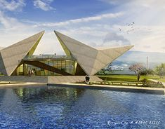 Triangular Architecture, Architecture Model Making, Parametric Architecture, Concept Architecture, Modern Architecture, Reptile House, Residential Complex, Unique Buildings, Roof Design