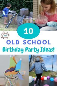 Birthday Party ideas that are awesome memory-makers! Find outside birthday party ideas as well as easy party games and some party decorations, too! DIY birthday parties for kids are just the best!