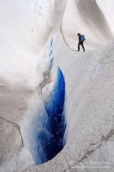 Glacier climbing in Patagonia, Argentina