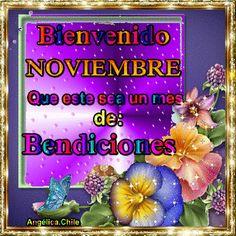 SUEÑOS DE AMOR Y MAGIA: Bienvenido Noviembre Spanish Greetings, New Month, Love Messages, Margarita, The Originals, Phrases, Gifts, Bb, Good Day Quotes